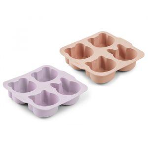 Siliconen cakevormpjes Mariam lavender/rose (2st) Liewood