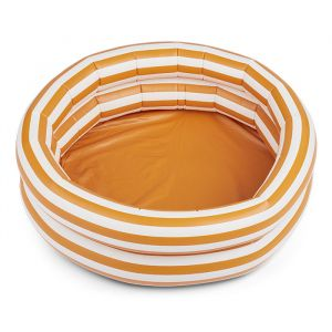 Opblaaszwembad Leonore Stripe mustard/creme (80cm) Liewood