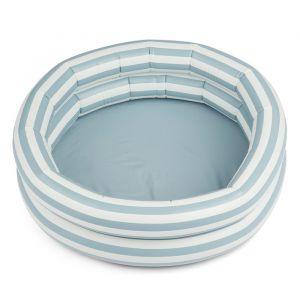 Opblaaszwembad Leonore Stripe sea blue/creme (80cm) Liewood