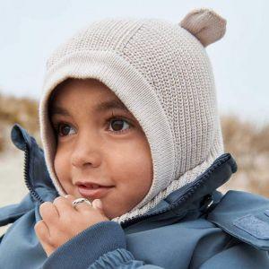 Muts met nekwarmer Hanibal Mr Bear sandy (3-4 jaar) Liewood