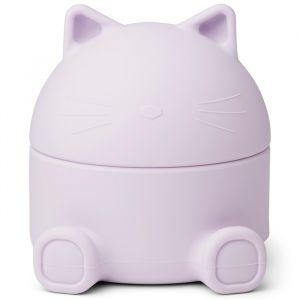 Siliconen opbergdoosje Murphy Cat light lavender Liewood