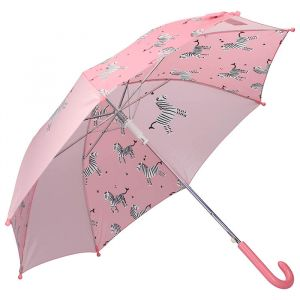 Kinderparaplu Cuddle Zebra roze Kidzroom