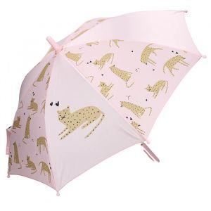 Kinderparaplu Cuddle Leopard roze Kidzroom