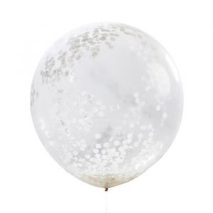 Mega confetti ballon wit (3st) Beautiful botanics Ginger Ray