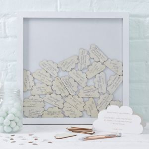 Hello World Babyshower Gastenboek frame Ginger Ray
