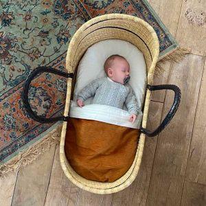 Tuck-Inn wiegdeken Curduroy Hazel Brown Witlof for Kids