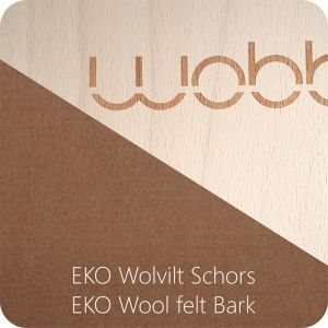 Wobbel Original blank gelakt met vilt Schors/Bark