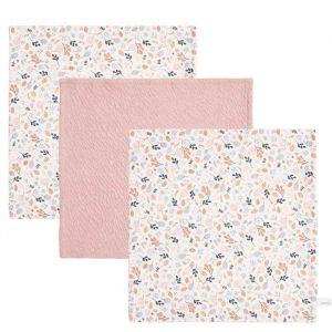 Monddoekjes Pure PinkSpring Flowers (3st) Little Dutch