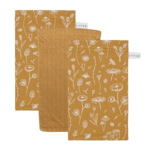 Washandjes Wild Flowers Ochre Little Dutch