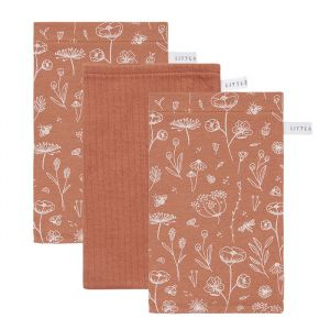 Washandjes Wild Flowers Rust Little Dutch