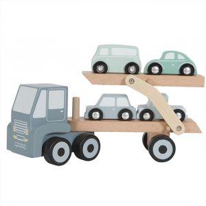 Houten vrachtwagen mint Little Dutch