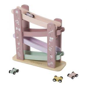Houten autobaan Adventure Pink Little Dutch