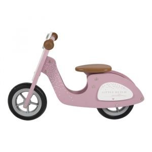 Houten loopscooter roze Little Dutch
