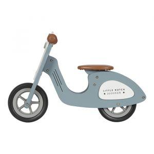 Houten loopscooter blauw Little Dutch zijkant
