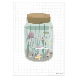 Poster A3 Ocean Jar Little Dutch