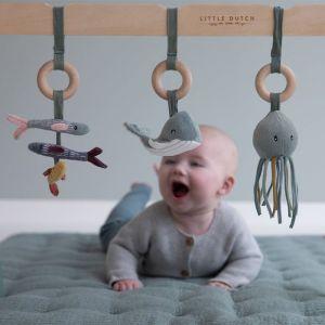 Houten babygym met speeltjes Ocean mint Little Dutch