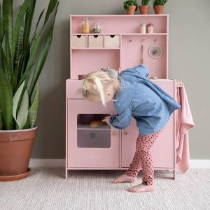 Houten speelkeuken roze Little Dutch