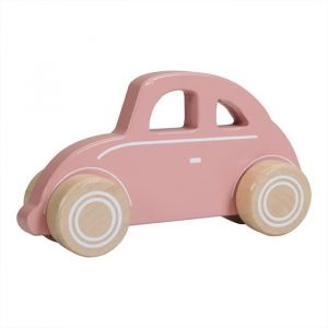 Houten auto roze Little Dutch