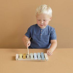 Houten xylofoon blauw Little Dutch