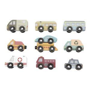 Houten voertuigen set Little Dutch