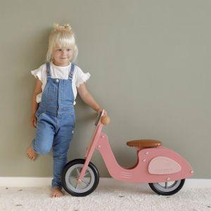 Houten loopscooter pink Little Dutch