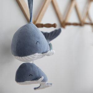 Muziekmobiel walvis Ocean Blue Little Dutch