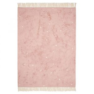 Vloerkleed Dot Pure Pink (170x120cm) Little Dutch