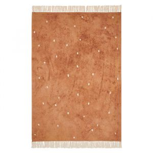 Vloerkleed Dot Pure Rust (170x120cm) Little Dutch