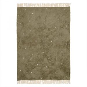 Vloerkleed Dot Pure Olive (170x120cm) Little Dutch