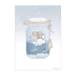 Poster A3 Ijsbeer Jar Little Dutch