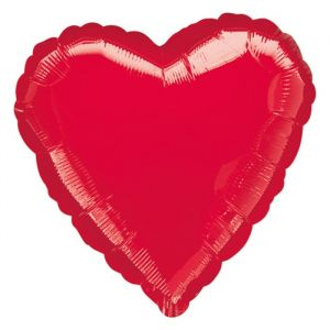 Folieballon hart rood (43cm)