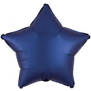 Folieballon Satin Luxe ster navy (43cm)