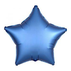 Folieballon Satin Luxe ster blauw (43cm)