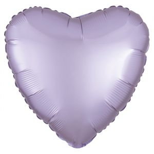 Folieballon Satin Luxe hart lila (43cm)