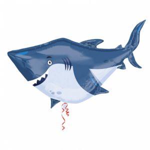 Folieballon haai (101cm)