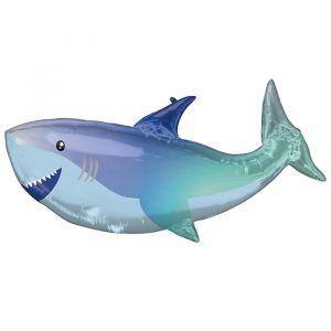Folieballon haai metallic (96cm)