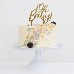 Acryl taarttopper Oh baby babyshower