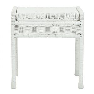 Rotan kruk storie stool white Olli Ella