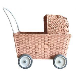 Poppenwagen Strolley roze Olli Ella