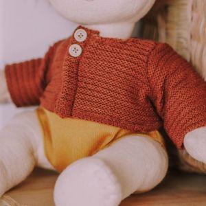Dinkum Doll cardigan chestnut Olli Ella