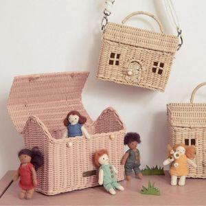 Draagbaar poppenhuisje Casa Clutch Rose Olli Ella