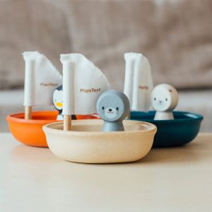 Badspeeltje zeehond in bootje Plan Toys