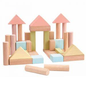 Houten blokkenset pastel (40st) Plan Toys