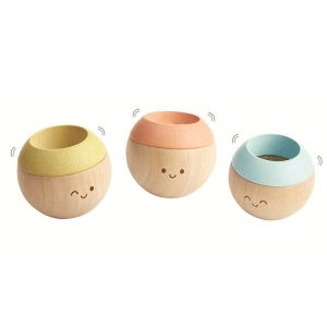 Houten tuimelaars pastel (3st) Plan Toys