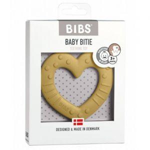 Siliconen bijtring Heart mustard Bibs