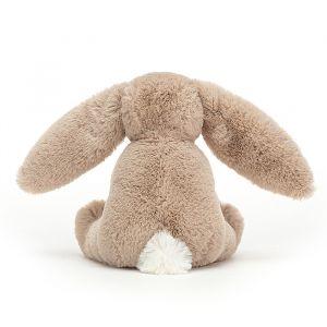 Knuffel Bashful Bunny beige met houten ring (13cm) Jellycat