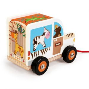 Houten sorteerwagen Safari Scratch