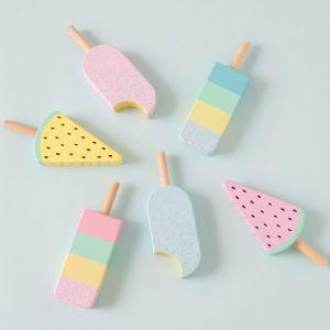 Houten ijsjes (6st) JaBaDaBaDo