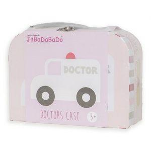 Dokterskoffertje met accessoires roze JaBaDaBaDo