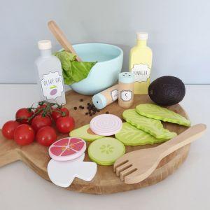 Houten salade speelset JaBaDaBaDo